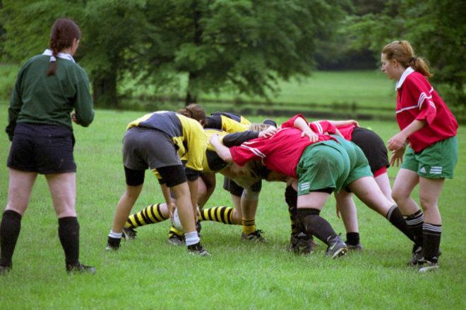 """Geordnetes Gerangel im Rugby (""""Scrum"""""""