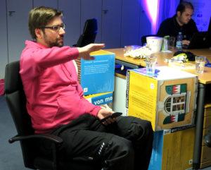 Stefan Kaufmann beim Wikipedia-Stammtisch